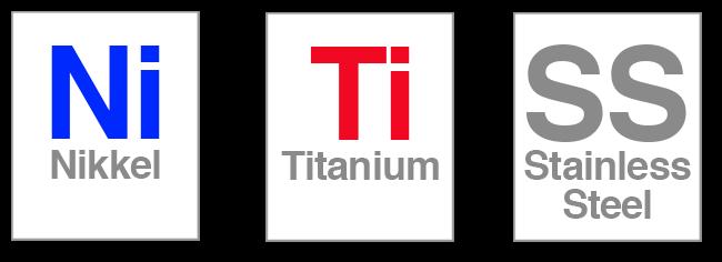 Temperatur coil Nikkel, Titanium og Rustfrit stål