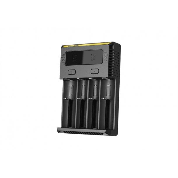 Nitecore New i4 lader til 4 x batterier