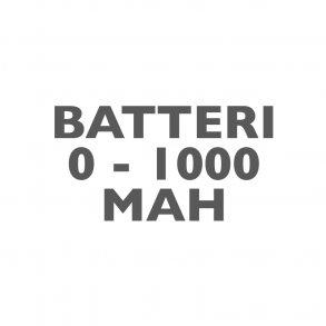 Batterier 0-1000mAh