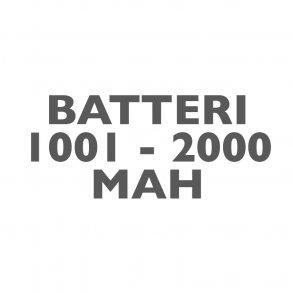 Batterier 1001-2000mAh