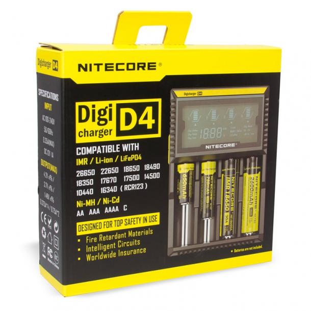 Nitecore D4 Digital batteri lader til 4 x batterier
